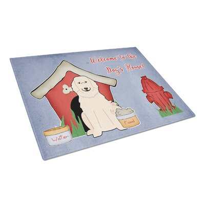 Dog House Glass Great Pyrenese Cutting Board