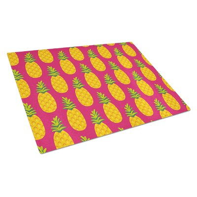 Glass Pineapples Cutting Board Color: Pink