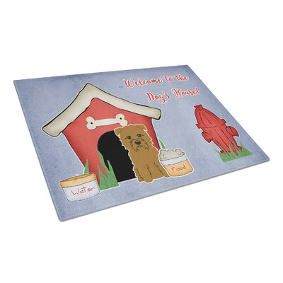 Dog House Glass Glen of Imal Grey Cutting Board Color: Tan