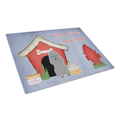 Dog House Glass Poodle Cutting Board Color: Silver