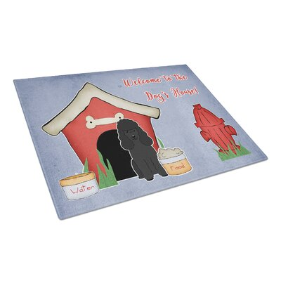 Dog House Glass Poodle Cutting Board Color: Black