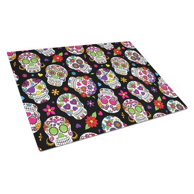 Glass Pink Cutting Board Color: Black