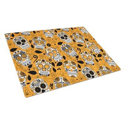 Rectangle Glass Orange Cutting Board