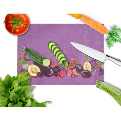Fruits and Vegetables Tempered Glass Cutting Board