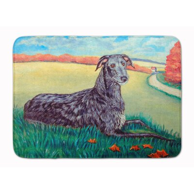 Scottish Deerhound Memory Foam Bath Rug