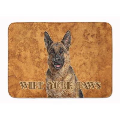 German Shepherd Wipe your Paws Memory Foam Bath Rug