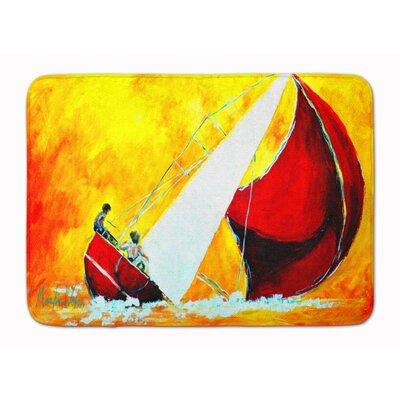 Sailboat Break Away Memory Foam Bath Rug