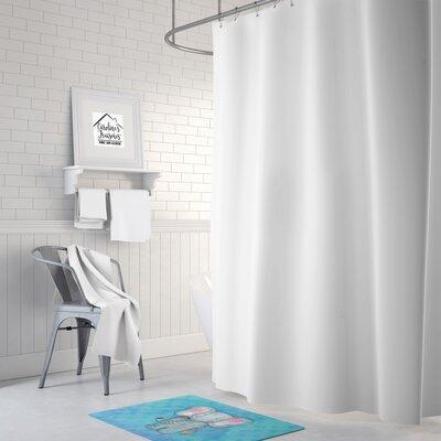 Brandyn Elepant Watercolor Memory Foam Bath Rug