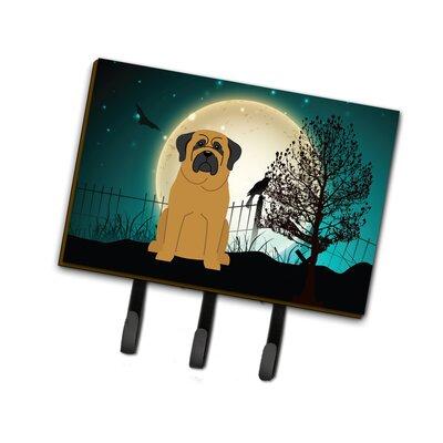 Halloween Scary Mastiff Leash or Key Holder Finish: Brown