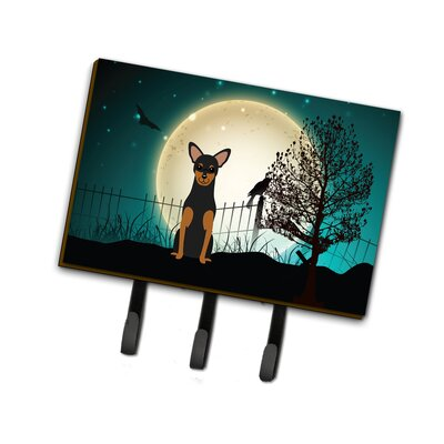Halloween Scary Manchester Terrier Leash or Key Holder