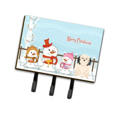 Merry Christmas Carolers Lowchen Leash or Key Holder