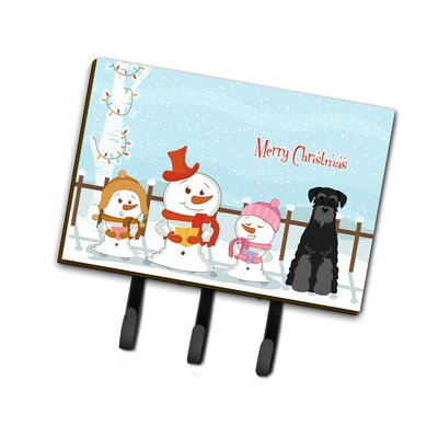 Merry Christmas Carolers Standard Schnauzer Leash or Key Holder