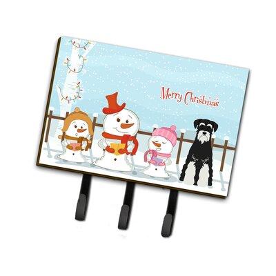 Christmas Standard Schnauzer Leash or Key Holder