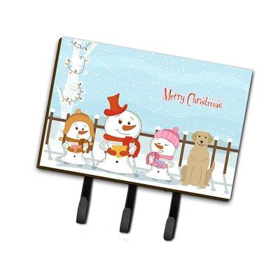Merry Christmas Carolers Labrador Leash or Key Holder
