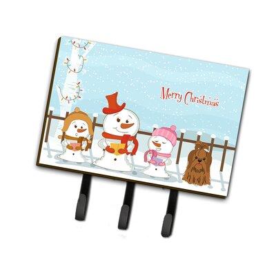 Merry Christmas Carolers Shih Tzu Leash or Key Holder Finish: Brown