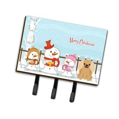 Merry Christmas Carolers Pekingnese Fawn Leash or Key Holder