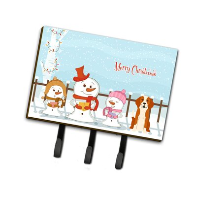 Christmas English Foxhound Leash or Key Holder