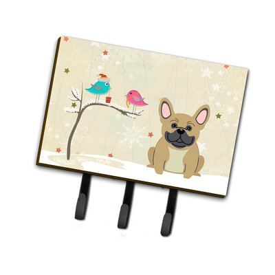 Christmas French Metal Bulldog Leash or Key Holder