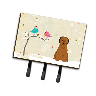 Christmas Presents Between Friends Briard Leash or Key Holder Finish: Brown