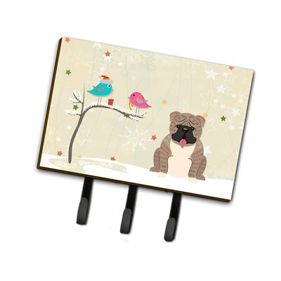 Christmas English Bulldog Rectangle Leash or Key Holder