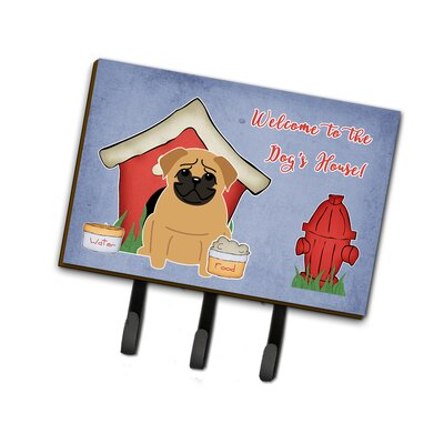Dog House Pug Leash or Key Holder