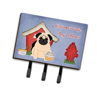Dog House Pug Fawn Leash or Key Holder