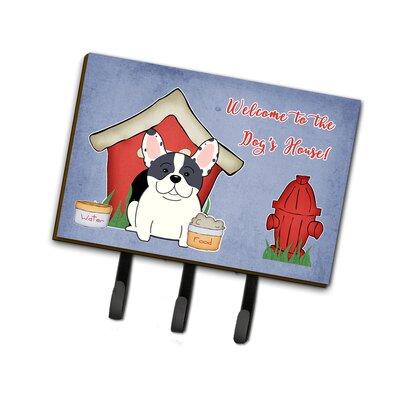 Dog House French Bulldog Piebald Leash or Key Holder