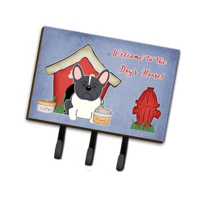 Dog House French Bulldog Leash or Key Holder Finish: Gray/White