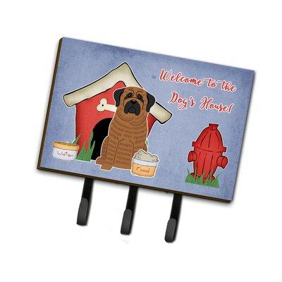 Dog House Mastiff Brindle Leash or Key Holder Finish: Brown