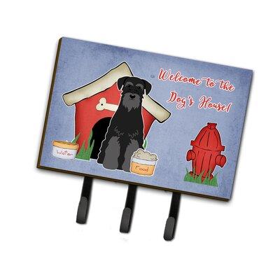 Dog House Standard Schnauzer Leash or Key Holder Finish: Black