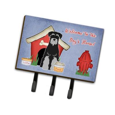 Dog House Standard Schnauzer Leash or Key Holder Finish: Black/Gray