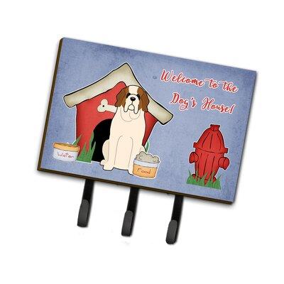 Dog House Saint Bernard Leash or Key Holder