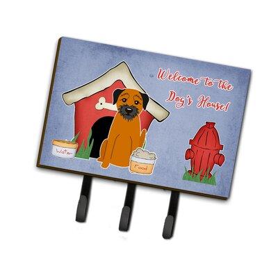 Dog House Border Terrier Leash or Key Holder