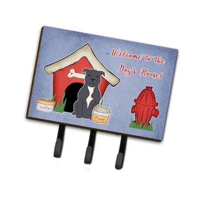 Dog House Staffordshire Bull Terrier Leash or Key Holder Finish: Gray