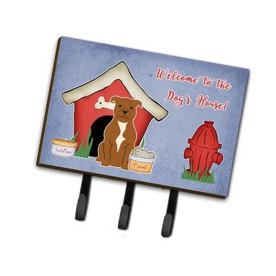 Dog House Staffordshire Bull Terrier Leash or Key Holder Finish: Brown