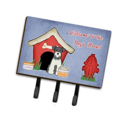 Dog House Miniature Schanuzer Leash or Key Holder Finish: Gray/White