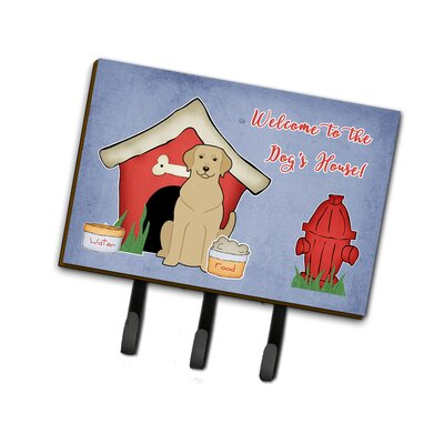 Dog House Yellow Labrador Leash or Key Holder