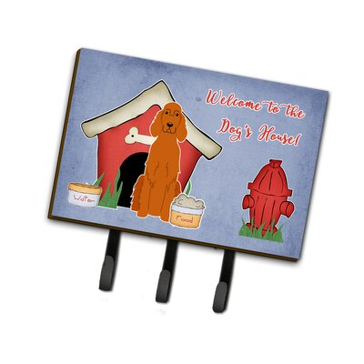 Dog House Irish Setter Leash or Key Holder