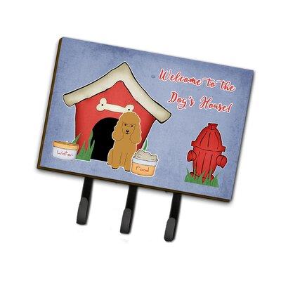Dog House Poodle Leash or Key Holder Finish: Silver