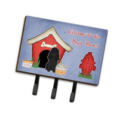 Dog House Poodle Leash or Key Holder Finish: Black