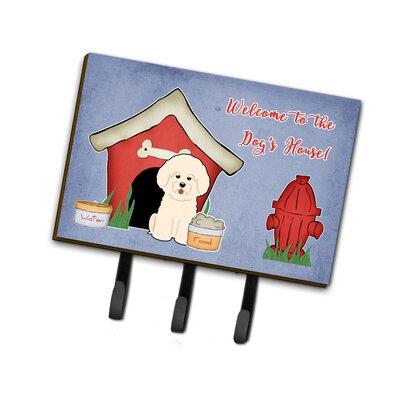 Dog House Bichon Frise Leash or Key Holder