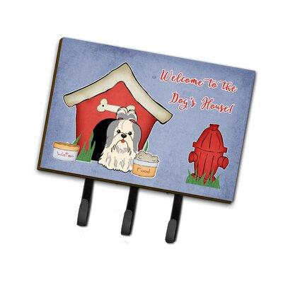 Dog House Shih Tzu Leash or Key Holder Finish: GrayWhite