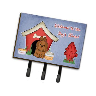 Dog House Shih Tzu Leash or Key Holder Finish: Brown
