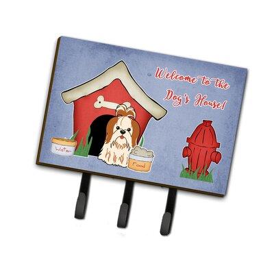 Dog House Shih Tzu Leash or Key Holder Finish: Silver/White