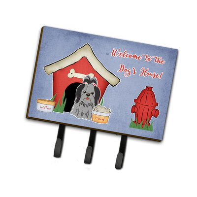 Dog House Shih Tzu Leash or Key Holder Finish: Black/Gray