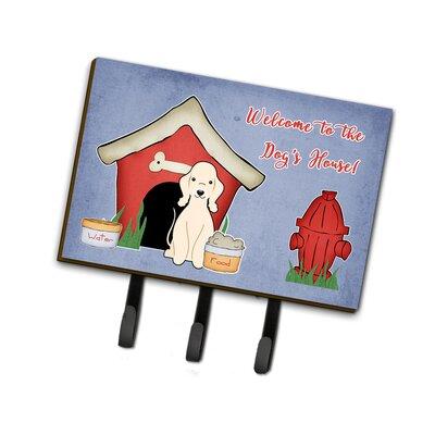 Dog House Bedlington Terrier Leash or Key Holder Finish: Sandy