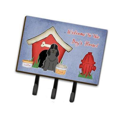 Dog House Cocker Spaniel Leash or Key Holder Finish: Black