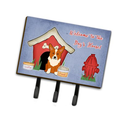 Dog House Corgi Leash or Key Holder