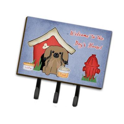 Dog House Pekingese Leash or Key Holder Finish: Brown