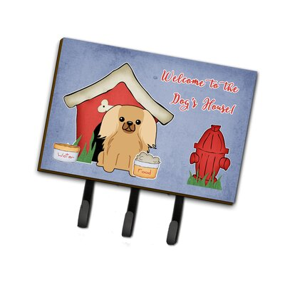 Dog House Pekingese Fawn Sable Leash or Key Holder